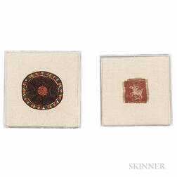 Coptic Polychrome Roundel and Coptic Square