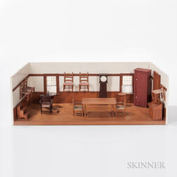 Scale Diorama of a Shaker Room and Contents