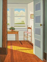 Hing Biu (American, b. 1951)      Interior with View to the Seaside