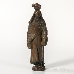 Benjamin Turner Kurtz (American, 1899-1966)    Bronze Figure of a Woman with a Jug