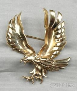 14kt Gold Eagle Brooch