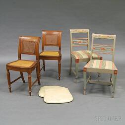 Four Continental Neoclassical and Neoclassical-style Side Chairs