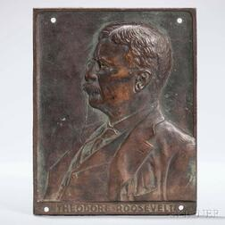 Theodore Roosevelt Relief-cast Bronze Plaque