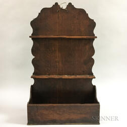 Carved Oak Hanging Spoon Rack