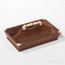 Whalebone and Wood Cutlery Box