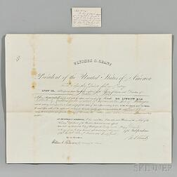 Grant, Ulysses Simpson (1822-1885) Archive Containing Presidential Signed Items and Autographs of his Presidential Cabinet.