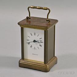 Tiffany and Co. Brass Carriage Clock