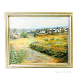Framed Anita Landry (American, 20th Century) Oil on Canvas Landscape