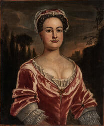British School, 18th Century      Portrait of a Woman in a Rose-colored Gown