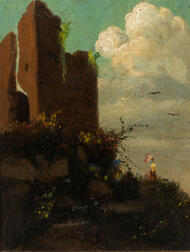 American School, 19th Century      Landscape with Chief