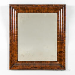 William and Mary Walnut-veneered Mirror