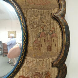 Needlework-framed Mirror