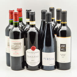Mixed Red Wine, 10 bottles