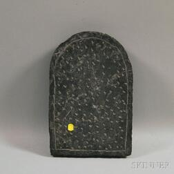 American School, 20th Century      Carved Stone Tablet/Tombstone.