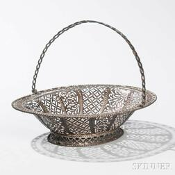 Irish Sterling Silver Cake Basket