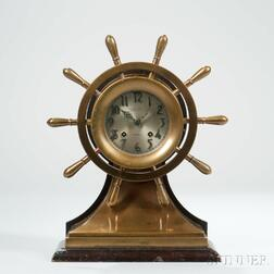 "Chelsea ""Mariner"" Yacht Wheel Ship's Bell Clock"