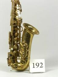 French Alto Saxophone, Selmer, Paris, 1937,   Model Balanced Action, serial number 23166