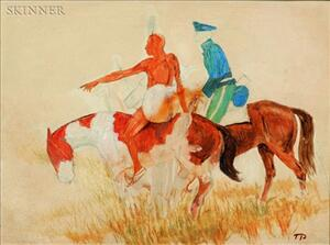 Theodore B. Pitman (American, 1892-1956)    Indian Scout