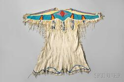 Nez Perce Beaded Hide Woman's Dress
