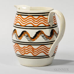Trailed Slip and Cable-decorated Pitcher
