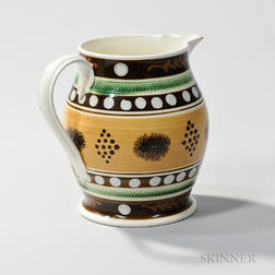 Mocha and Slip-decorated Pitcher