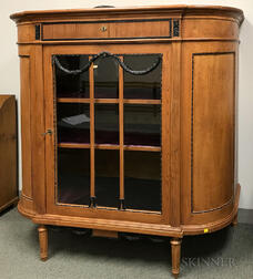 Biedermeier-style Glazed Pine and Beech Cabinet