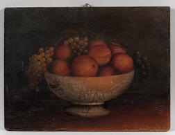 American School, Mid-19th Century      Still Life Compote with Fruit