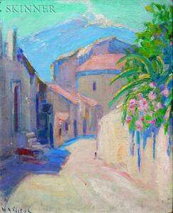 Mary A. Kirkup (American, 20th Century)    Street in Taormina
