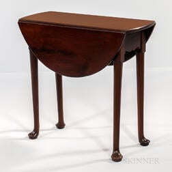 Georgian Oval Mahogany Drop-leaf Table