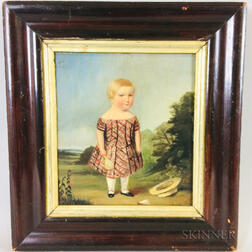 American School, 19th Century       Portrait of a Child