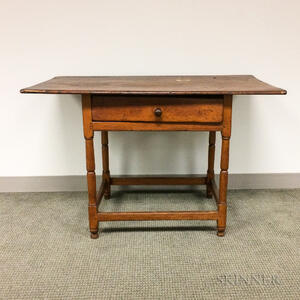 Country Pine One-drawer Tavern Table