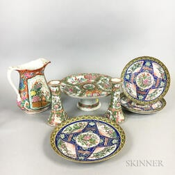 Eight Export Porcelain Table Items