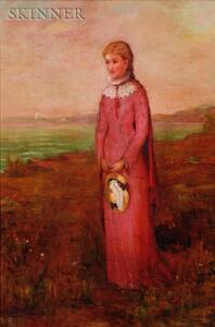 Clement Rollins Grant (American, 1849-1893)    Portrait of a Young Woman
