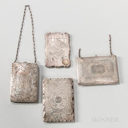 Four Silver Card Cases