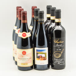 Mixed Red Wine, 9 bottles