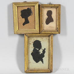 Three Framed Silhouettes