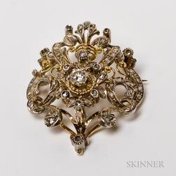 18kt Gold and Diamond Brooch