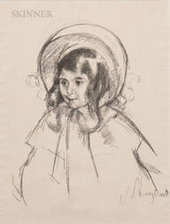 Mary Cassatt (American, 1844-1926)      Sara Wearing her Bonnet and Coat