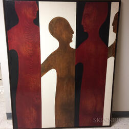 Natalie Marie Cole Painting Four Figures