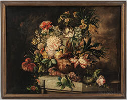 Continental School, 19th/20th Century    Elaborate Floral Still Life