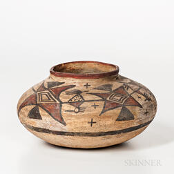 Southwest Polychrome Pottery Seed Jar