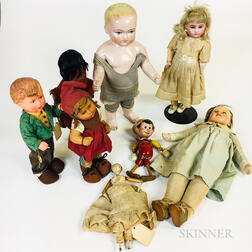 Small Group of Dolls and Puppets