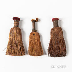 Three Small Shaker Whisk Brooms