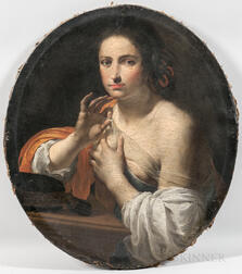 Continental School, 17th Century Style      Portrait of a Lady with a Gossamer Drape