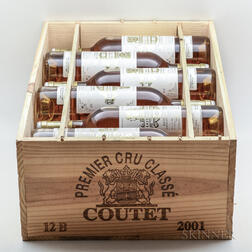 Chateau Coutet 2001, 12 bottles (owc)