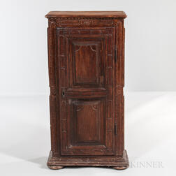 Continental Carved Oak Cabinet