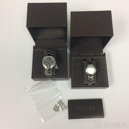 Two Gucci Stainless Steel Watches