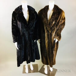 Mink Fur Coat and a Beaver Fur Coat