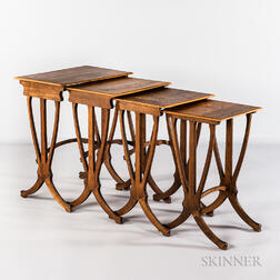 Set of Four Galle Nesting Tables