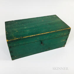 Green-painted Pine Document Box and a Group of Early Photography